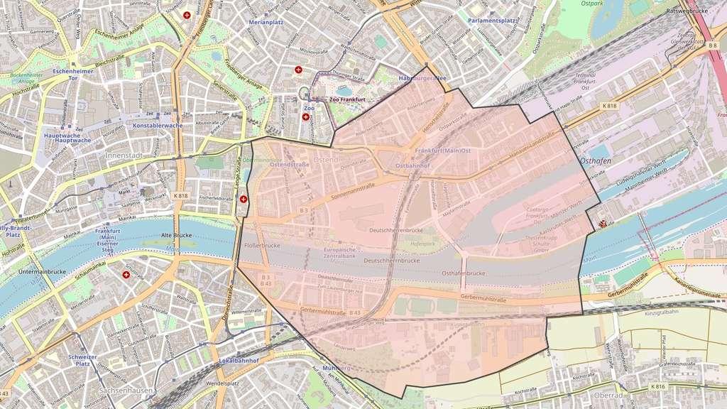 Frankfurt Evakuierungsbereich