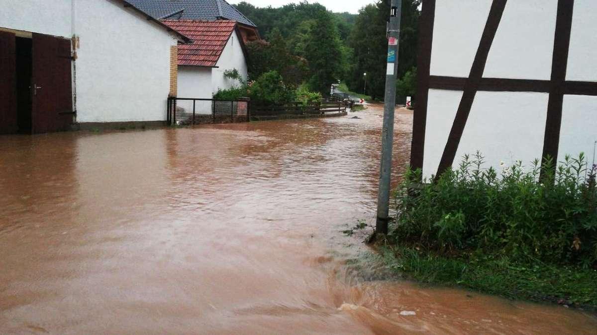 überschwemmung Hessen